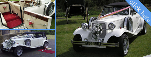 Ivory Wedding Car Beauford 1930 Style 3 Pangers Maximum